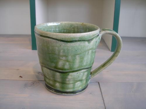 24 新緑釉マグ