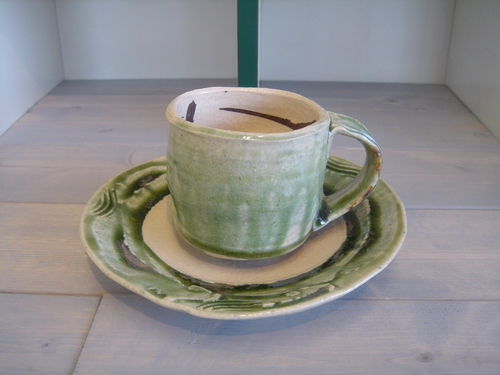 32 カップ&ソーサー緑