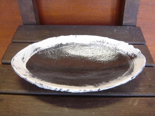 40 白雲楕円皿